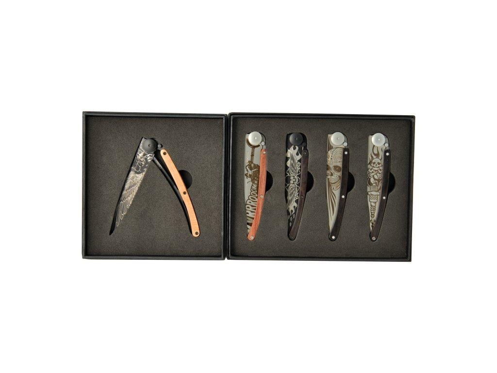 Dárková sada kapesních nožů 5dílná Biker
