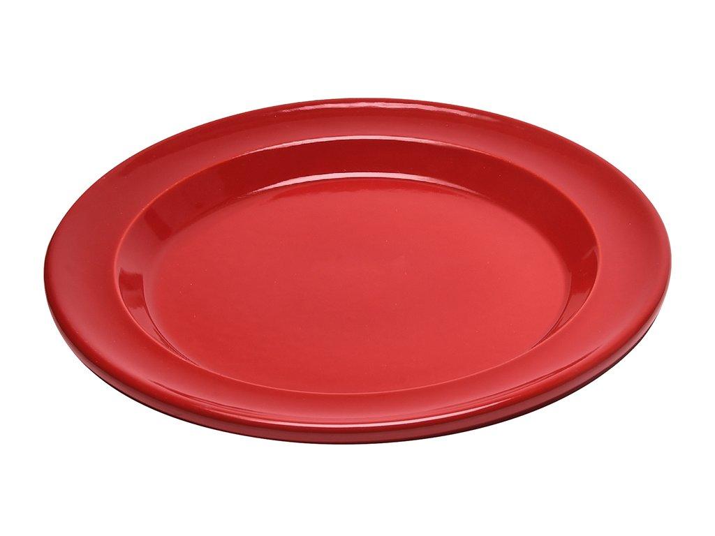 Talíř jídelní červená Burgundy