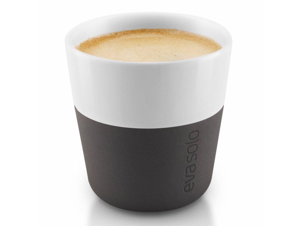 Termošálky na espresso 80 ml 2 kusy karbonově černé