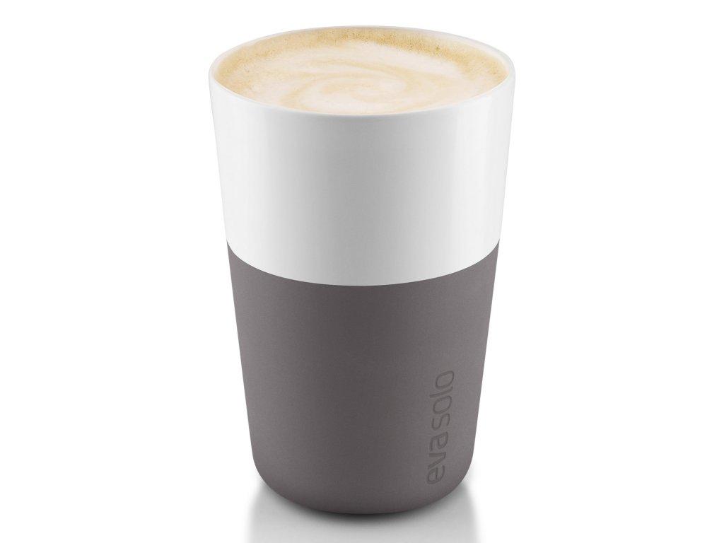 Termohrnky na café latte 360 ml 2 kusy šedé