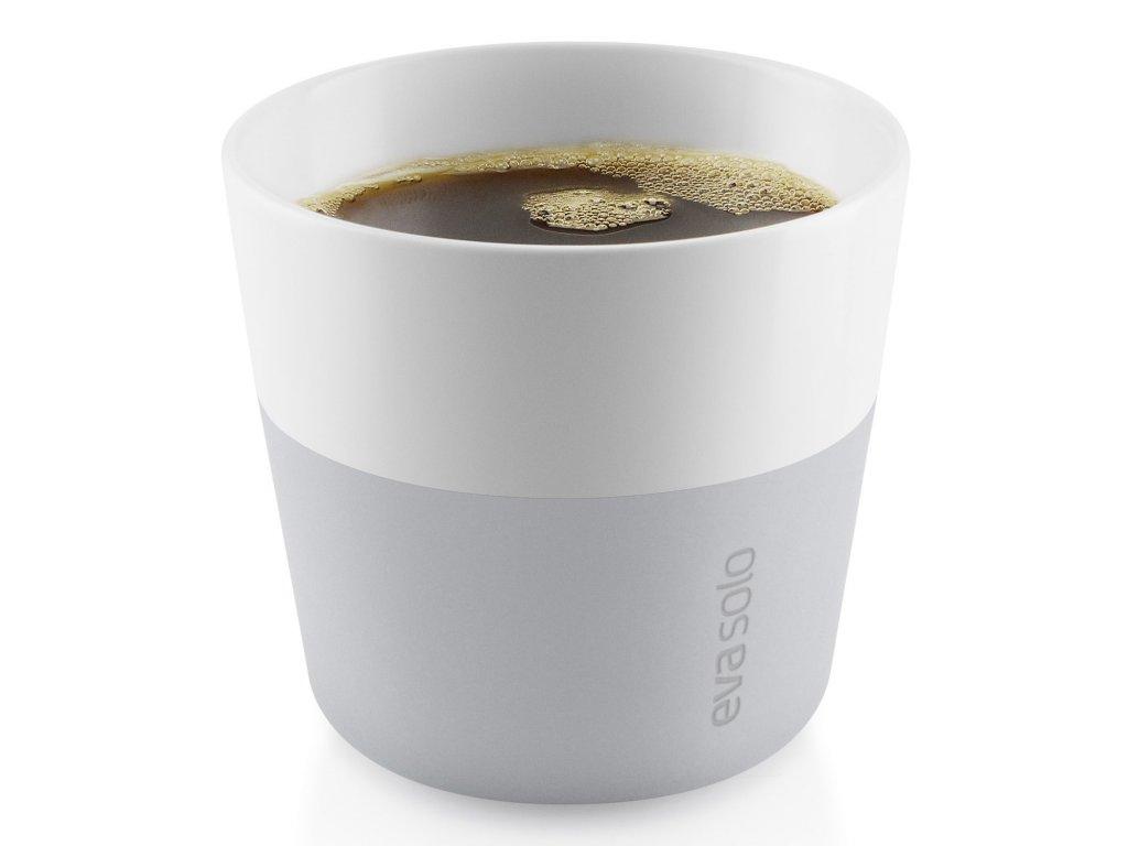 Termohrnky na kávu Lungo 230 ml 2 kusy světle šedé