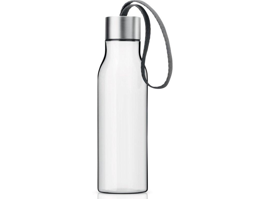 Lahev na pití 0,5 l se šedým řemínkem