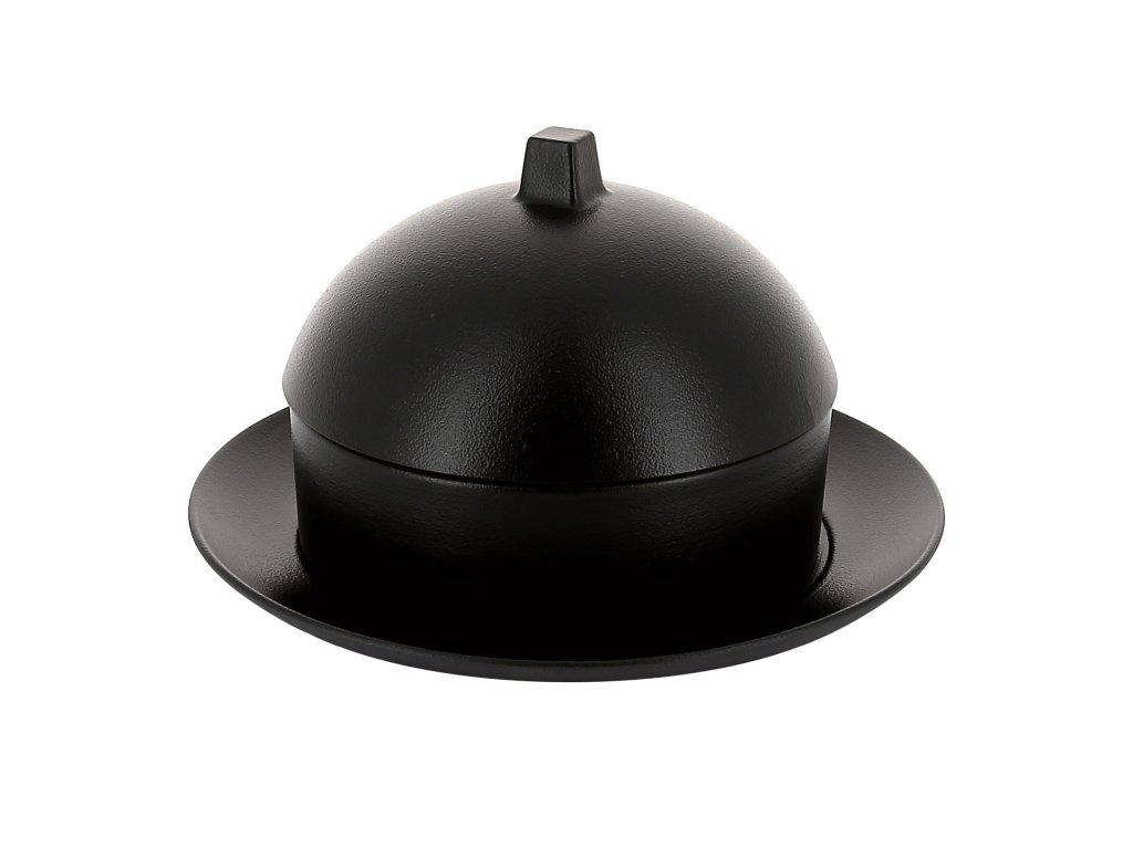 Dim sum set - parník/napařovač s talířem a poklopem matná černá Equinoxe REVOL