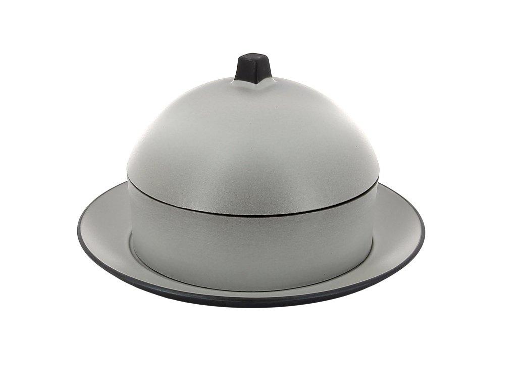 Dim sum set - parník/napařovač s talířem a poklopem pepřová bílá Equinoxe REVOL