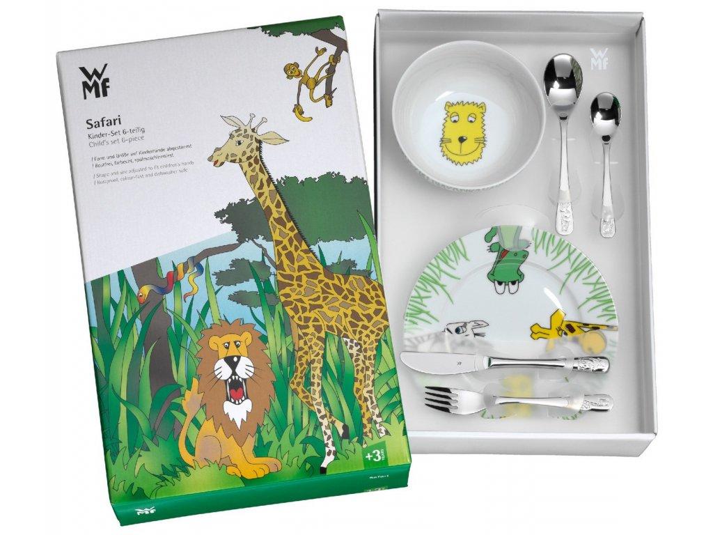 Dětský jídelní set 6dílný set Safari WMF