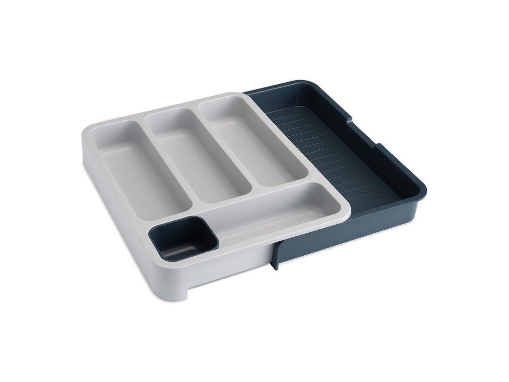 Přizpůsobitelné přihrádky na příbory šedé DrawerStore™