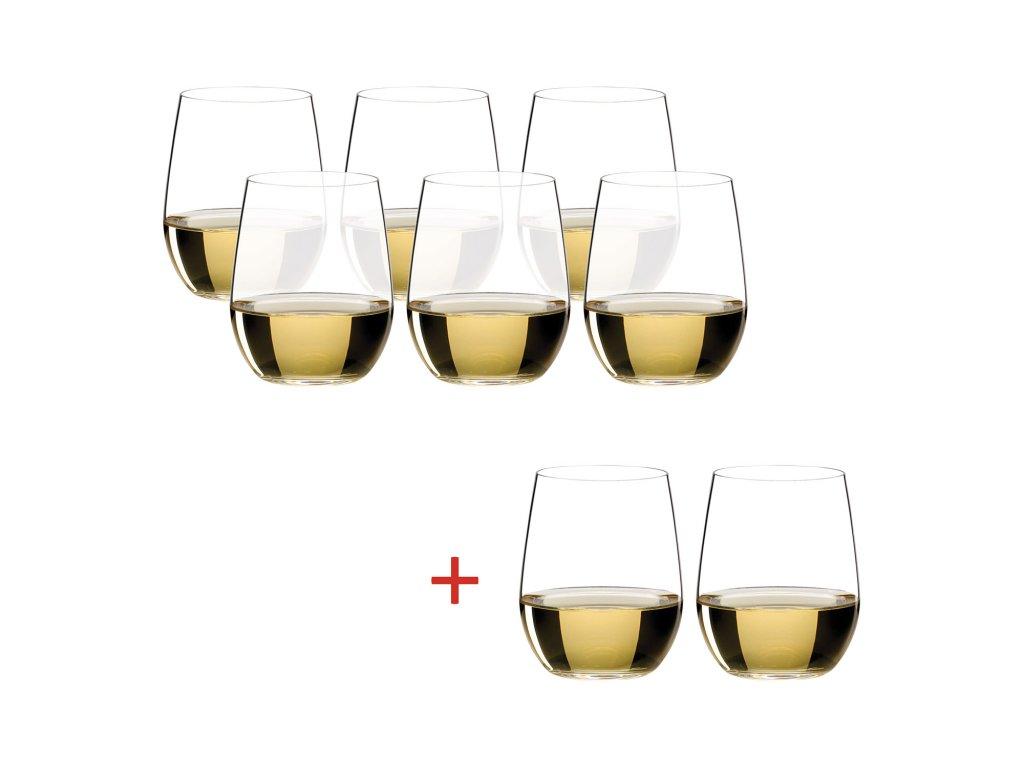 Výhodné balení 6+2 ks zdarma sklenic Viognier, Chardonnay O-Riedel