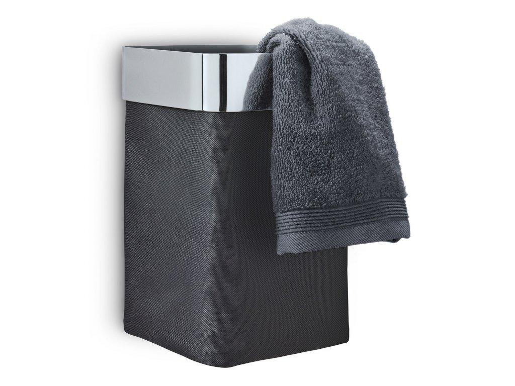 Nástěnný koš na ručníky NEXIO leštěný antracitový