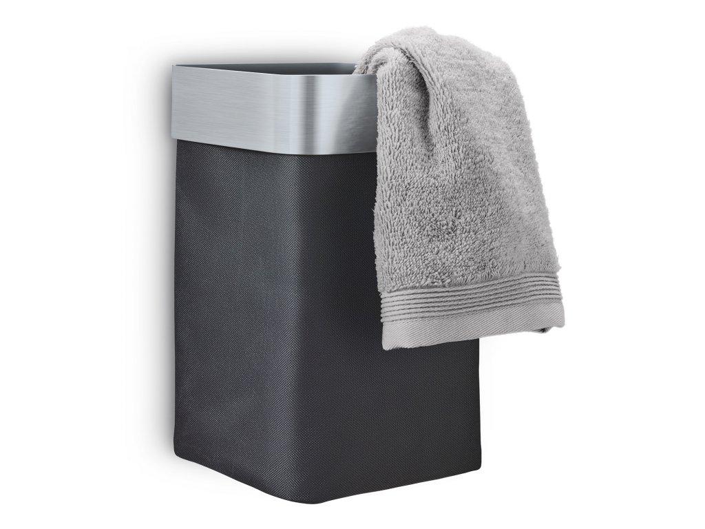 Nástěnný koš na ručníky NEXIO matný antracitový