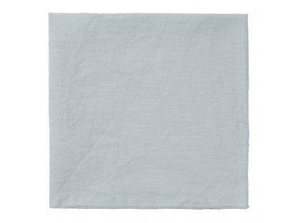 Lněný ubrousek Lineo šedobílý