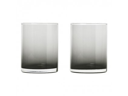 Set 2 skleniček MERA kouřové sklo 0,22 l