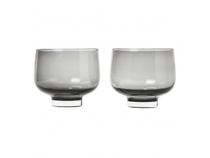 Set 2 skleniček FLOW kouřové sklo 0,22 l Blomus