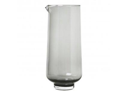Karafa na vodu FLOW kouřové sklo 1,1 l