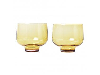 Set 2 skleniček FLOW matná zlatá 0,22 l Blomus