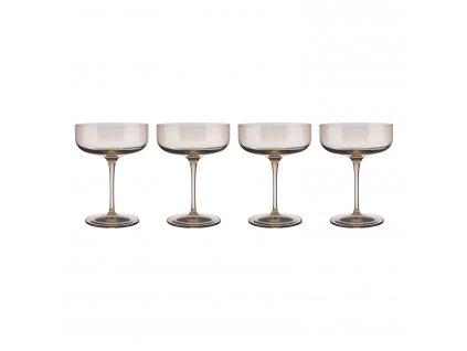 Set 4 club sklenic na šampaňské FUUM zlatavé sklo Blomus