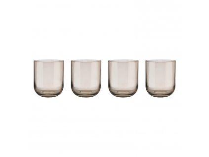 Set 4 sklenic na vodu FUUM zlatavé sklo