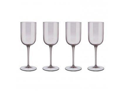 Set 4 sklenic na bílé víno FUUM hnědé sklo