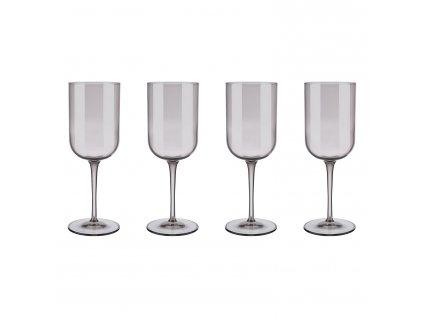Set 4 sklenic na červené víno FUUM hnědé sklo Blomus