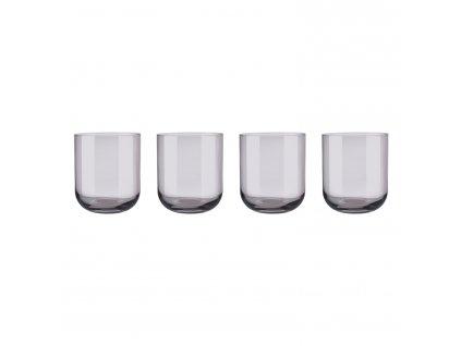 Set 4 sklenic na vodu FUUM hnědé sklo