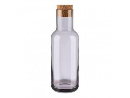 Karafa na vodu s korkovou zátkou FUUM hnědé sklo