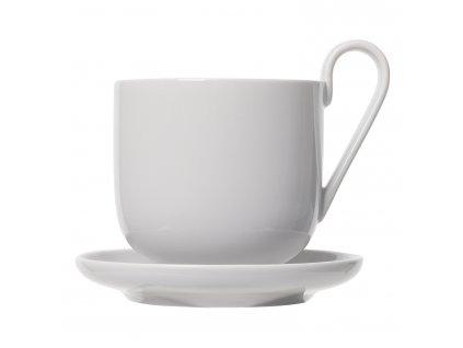 Set šálků na kávu s podšálkem RO světle šedý Blomus