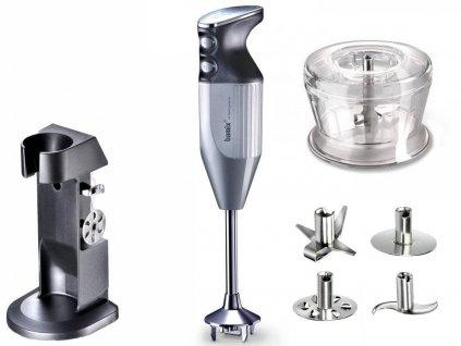 Tyčový mixér DE LUXE stříbrný® bamix