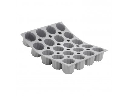 Profi silikonová forma na 20 mini báboviček canelé Ø 3,5 cm Elastomoule® de Buyer