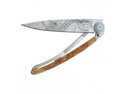Kapesní nůž tattoo 37 g juniper Fish deejo