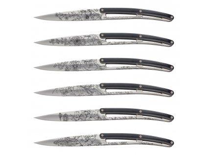 Sada steakových nožů 6dílná PaperStone®, mirror Blossom