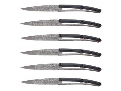 Sada steakových nožů 6dílná PaperStone®, titanium Blossom