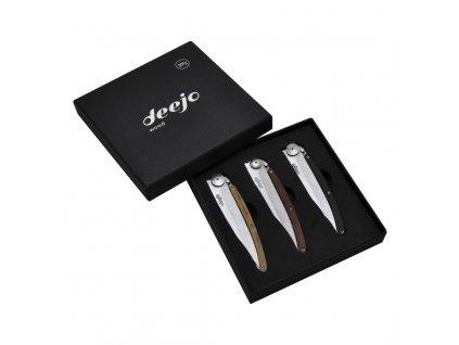 Dárková sada kapesních nožů 37 g 3dílná wood