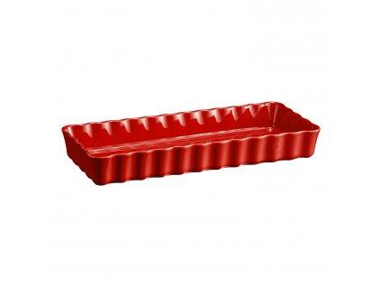 Hranatá koláčová forma Burgundy červená 15 × 36 cm Emile Henry
