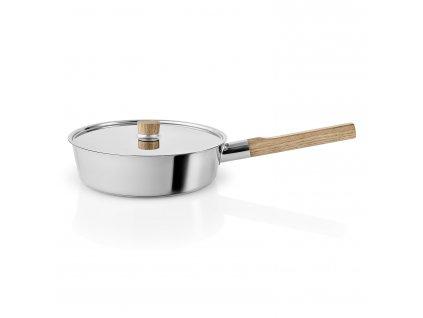 Pánev na soté s dřevěnou rukojetí Nordic kitchen nerez Ø 24 cm