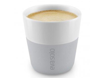 Termošálky na espresso 80 ml 2 kusy světle šedé