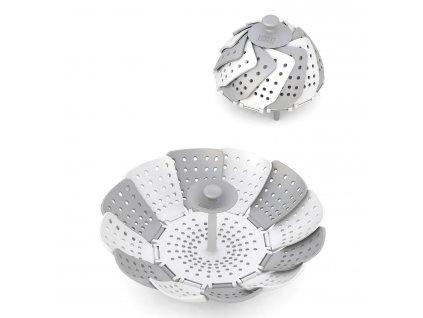 Skládací napařovač bílý/šedý Lotus™