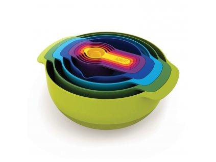 Sada stohovatelných mís a odměrek Multi-colour Nest™ 9 Plus Joseph Joseph