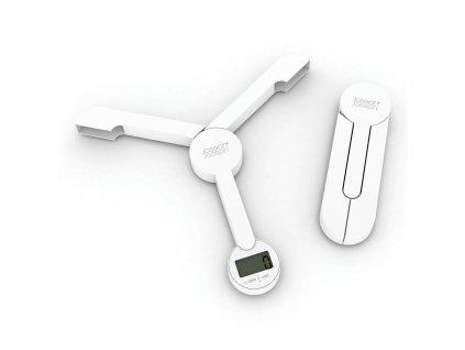 Skládací digitální kuchyňská váha bílá TriScale™ Joseph Joseph
