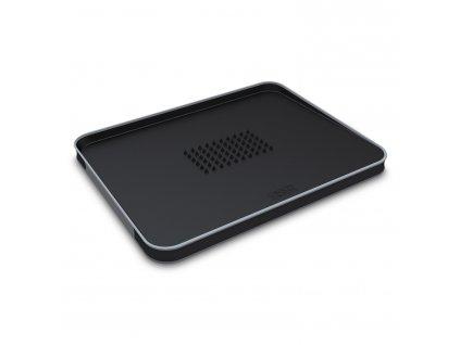 Multifunkční krájecí prkénko s výstupky velké černé Cut&Carve™ Plus