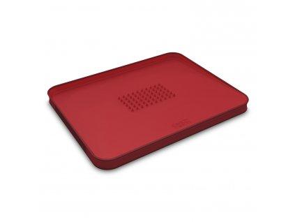 Multifunkční krájecí prkénko s výstupky velké červené Cut&Carve™ Plus Joseph Joseph