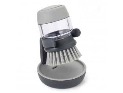 Kartáč s dávkovačem saponátu šedý Palm Scrub™