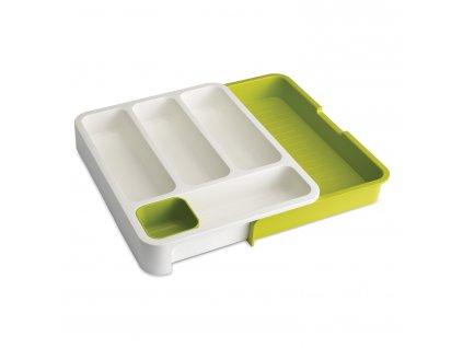 Přizpůsobitelné přihrádky na příbory bílé DrawerStore™