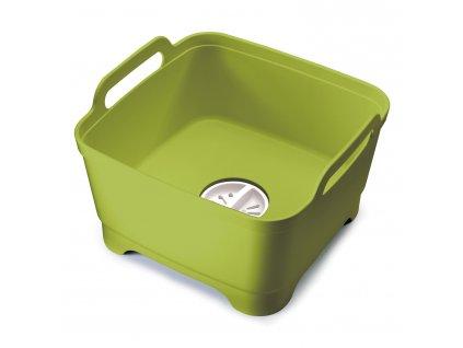 Plastový dřez na mytí nádobí s odtokem zelený Wash&Drain™