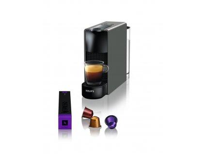 Kávovar na kapsle KRUPS Essenza Mini šedý