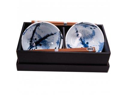 Set misek Blue & White s hůlkami 500 ml 2 ks MIJ