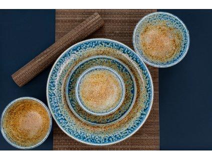 Mělký talíř s vysokým okrajem Earth & Sky 22 cm MIJ