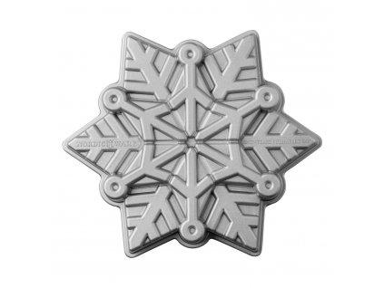 Forma na koláč Frozen Snowflake Bundt® stříbrná
