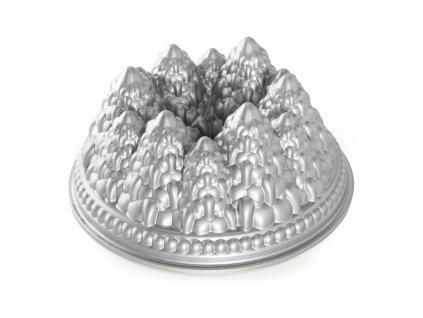Forma na bábovku se stromečky Pine Forest Bundt® stříbrná Nordic Ware