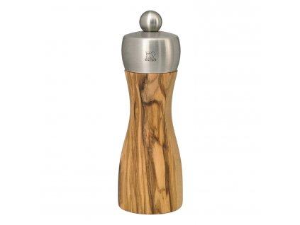 Mlýnek na sůl FIDJI olivové dřevo/nerez 15 cm Peugeot