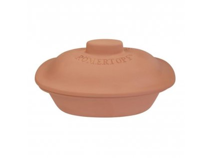 Římský hliněný hrnec s víkem medium Trend terakotový ® Römertopf