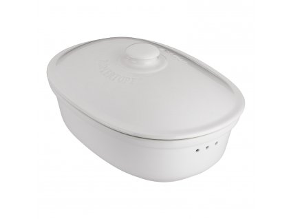Nádoba na uchovávání pečiva oválná bílá®